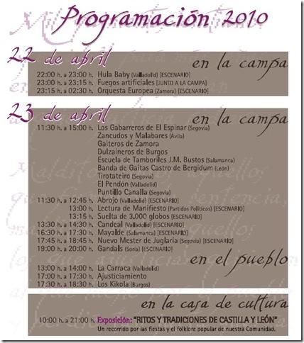 programación villalar 2010