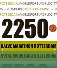 Startnummer R'dam halve marathon