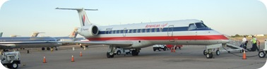 plane parked in Roswell after trip