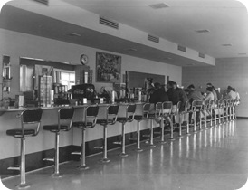 VC Coffee Shop soda fountain Feb 58. Hewitt 0944-1