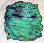 Large Water Lilies Dyed Fitted Diaper