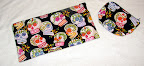 Black Sugar Skulls Zipper Bags