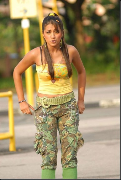 Actress Gallery: Trisha showing her tattoo