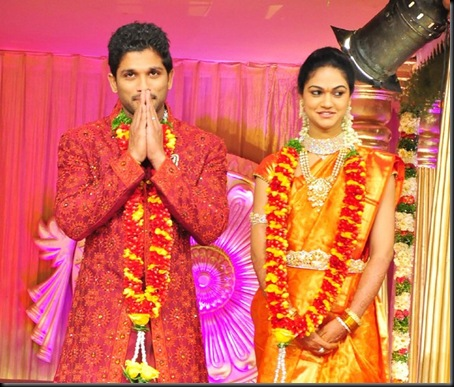 7Allu Arjun Snehs Reddy wedding reception pictures