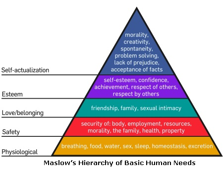 essay on basic human needs Consumer choice this essay offers a theory for the hierarchy of markets the  essay surveys the behavioral literature discussing human needs and the dis.