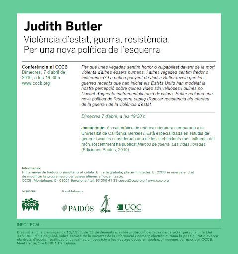 Judith Butler en Barcelona