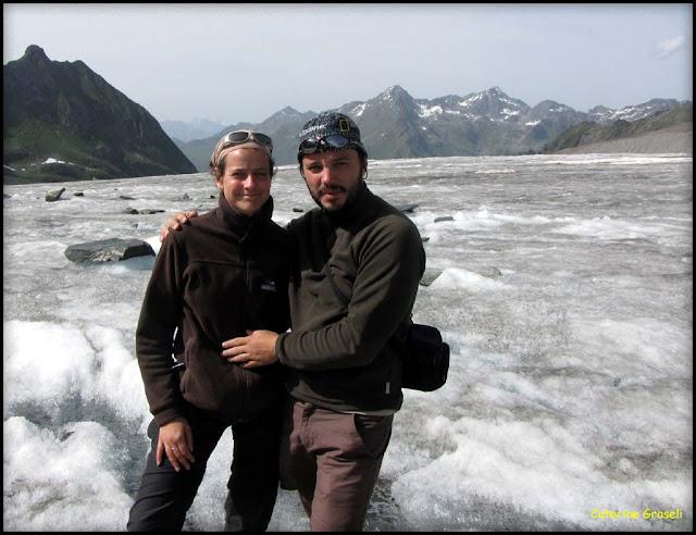Sur le glacier de Corbassière