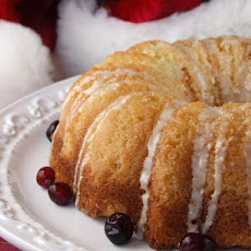 Overnight Eggnog Coffee Cake with Nog Glaze