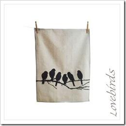 Lovebirds Kitchen Tea Towel
