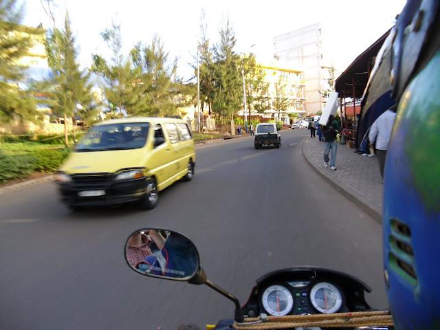 Blick vom Motorradtaxi