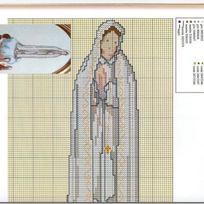 Punto de cruz Virgen de Fátima