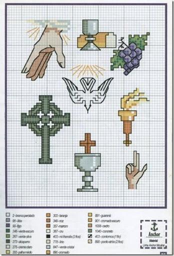 Punto de cruz primera comunión | Gratis Punto de cruz