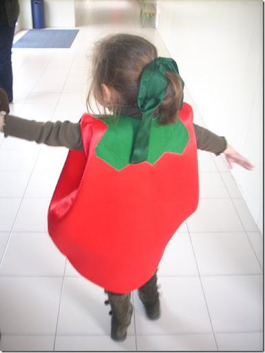 Disfraz casero de tomate en foami - Disfraz casero