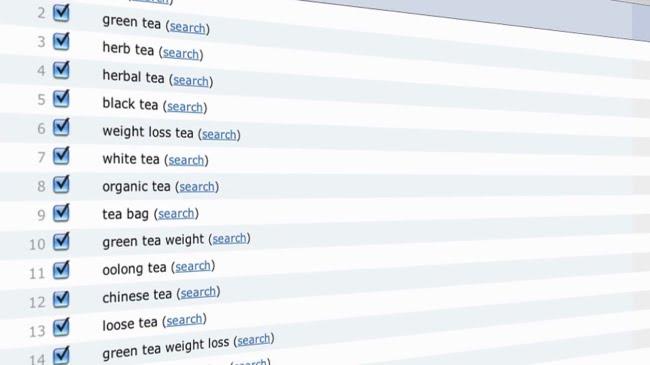Tea keyword niche