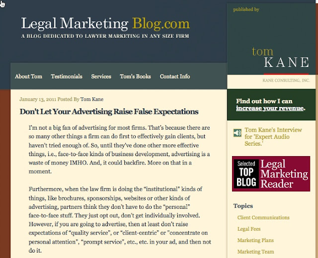11 Legal marketing blog