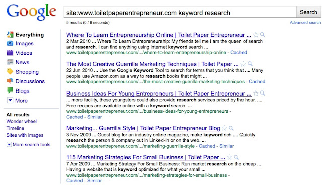 16 Toilet paper entrepeneur keyword research