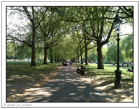 Green Park in Spring London