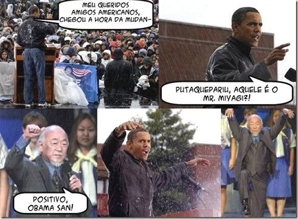 Obama e Mr. Miyagi