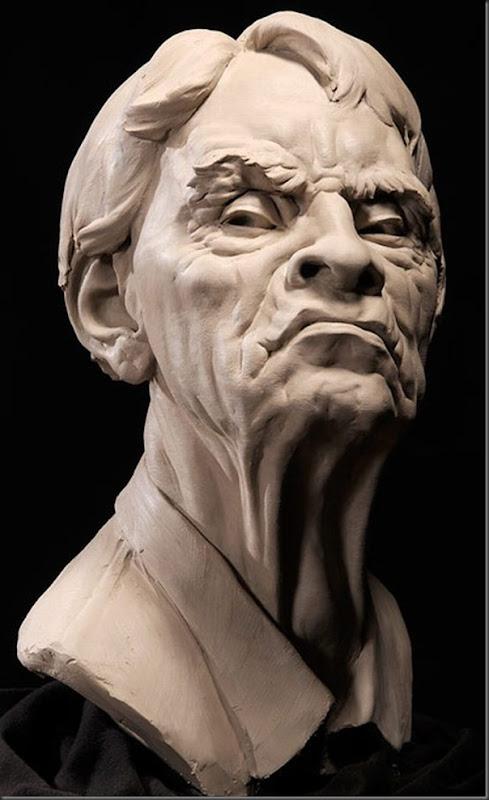 Esculturas Faciais de Philippe Faraut