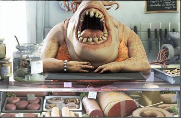 Criaturas divertidas em 3D (38)