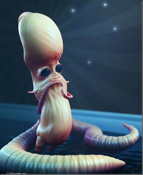 Criaturas divertidas em 3D (7)