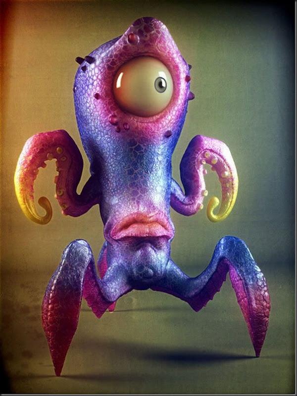 Criaturas divertidas em 3D (6)