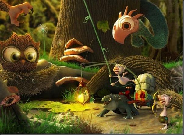 Criaturas divertidas em 3D (2)