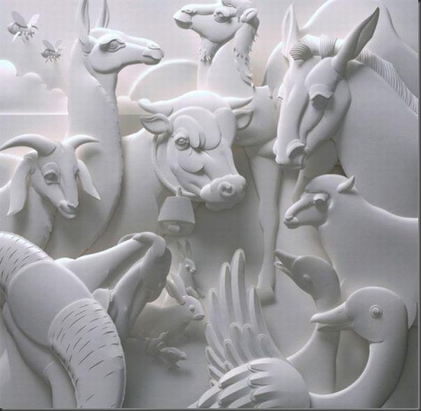Lindas esculturas de papel (1)