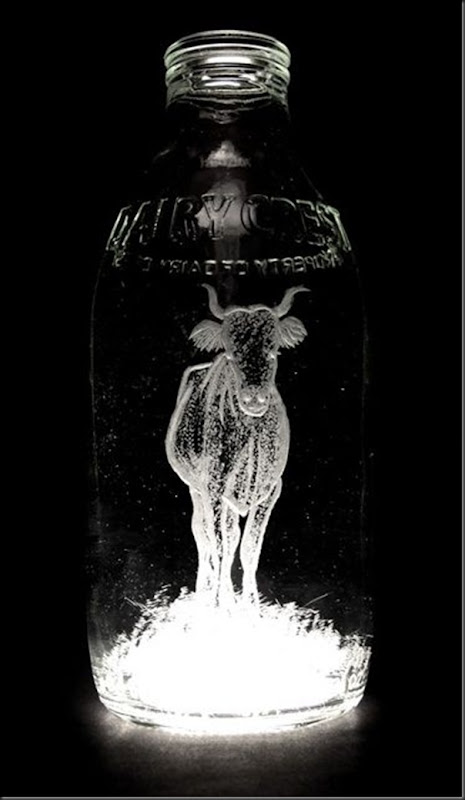 Arte na garrafa de leite por Charlotte Hughes-Martin (23)