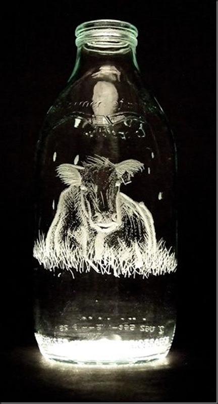 Arte na garrafa de leite por Charlotte Hughes-Martin (22)