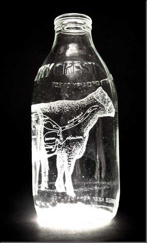 Arte na garrafa de leite por Charlotte Hughes-Martin (21)