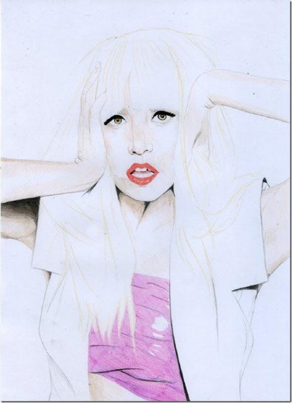 50 desenhos feitos por fãs de Lady Gaga (34)