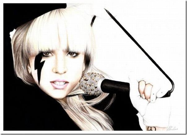 50 desenhos feitos por fãs de Lady Gaga (31)