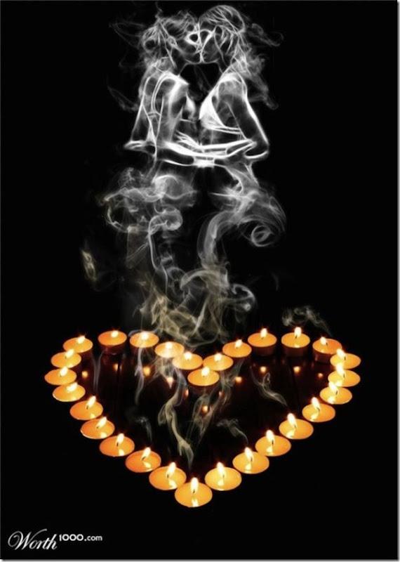 A bela arte feita com a fumaça