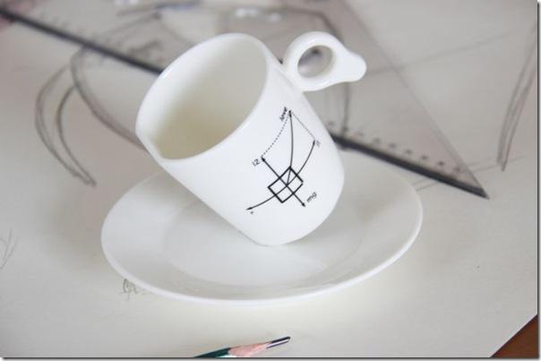 Xícara de Café perfeitamente equilibrada no pires