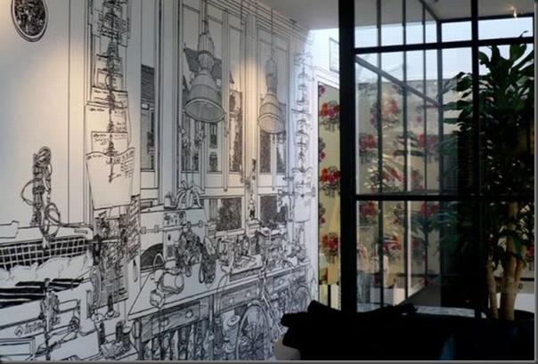 Arte em preto e branco com marcador em parede (4)