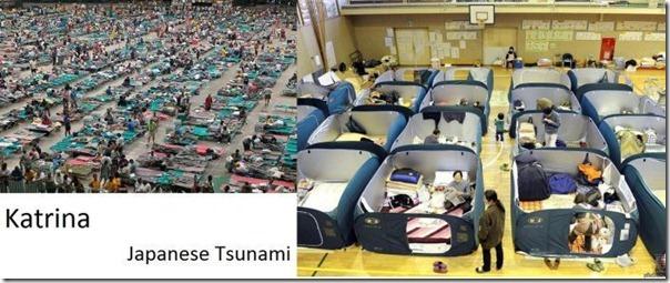 Diferença entre EUA e Japão nas catastrofes