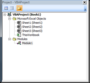 VBE Project Explorer