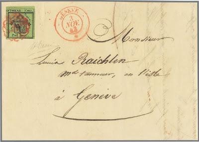 Canton de Genève sur lettre