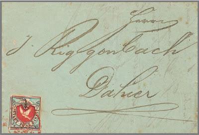 La colombe de Bâle, sur lettre