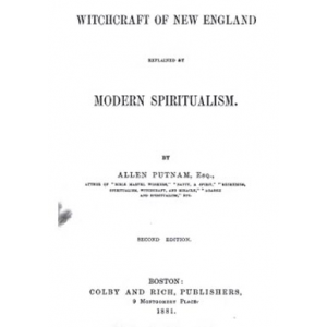 Witchcraft Of New England Explained By Modern Spiritualism Cover