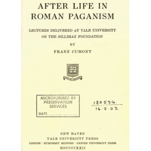 After Life In Roman Paganism Cover