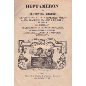 Heptameron Or Magical Elements Cover