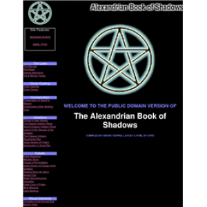 The Alexandrian Book Of Shadows Cover