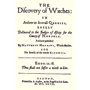 The Discovery Of Witches In Answer To Severall Queries Lately Cover