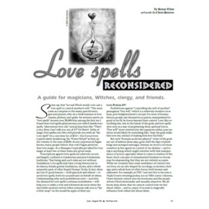 Love Spells Reconsidered A Guide For Magicians Witches Clergy And Friends Cover