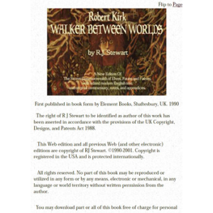 Robert Kirk Walker Between Worlds Cover