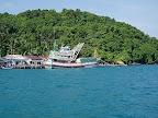 カンボジア西海岸の海