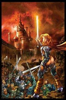 Shivara Sharpblade lidera um exército contra a Tormenta