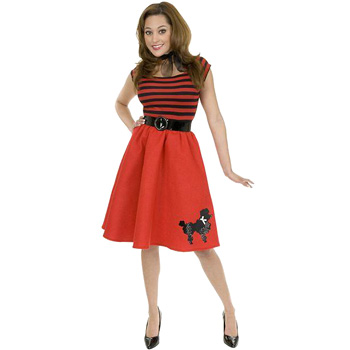 Red Poodle Dress